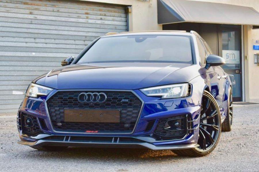 Ed ecco il lavoro su  #Audi  #RS4  #ABT Blu Navarra da ben 530cv!!  Non avevamo …