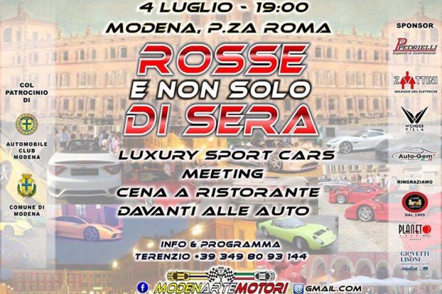 Questa sera vi aspettiamo a Modena, evento imperdibile